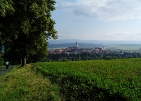View of the town of Levoča from Mariánska hora