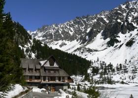 Mountain hotel by Popradské pleso (tarn)