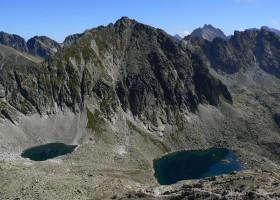 Okrúhle and Capie pleso (tarns) beneath Štrbský peak