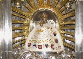 Statue of Baby Jesus in basilica